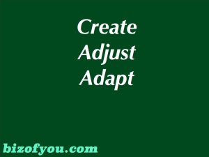 Create Adjust Adapt