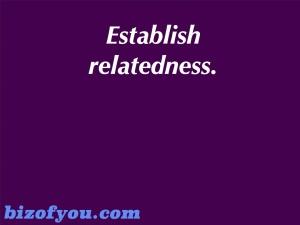 establish relations