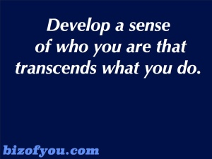 sense of who you are