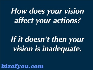 Vision affecting actions