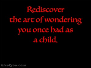 rediscover wondering