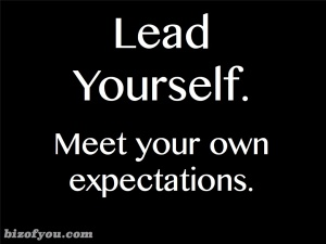 Meet your own expectations