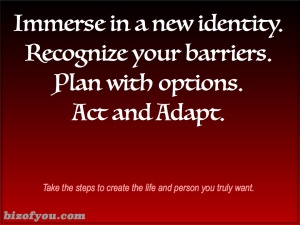 It's up to us to create the person we want to become and it starts with our identity.