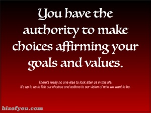 authority to choose